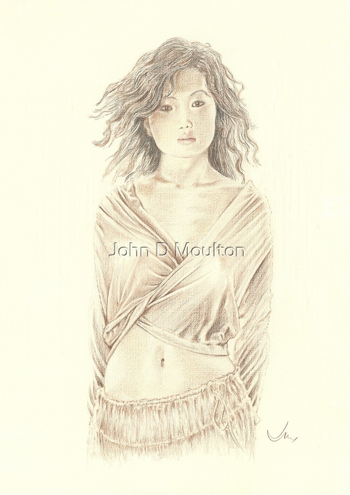 """Reon"" Colour Pencil Artwork by John D Moulton"