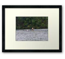 Dude on the Lake Framed Print