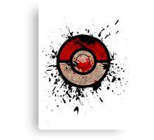 Pokeball-Splash! Canvas Print