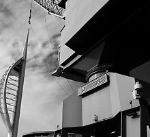 Spinnaker Tower & Dockyard Crane, Portsmouth by John Callaway