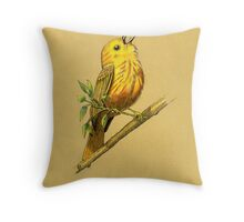 Male Yellow Warbler Throw Pillow