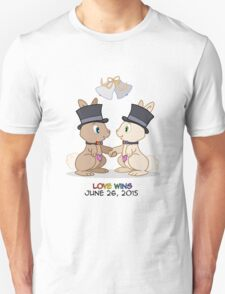 #LoveWins (or Skip & Pip celebrate Marriage Equality) T-Shirt