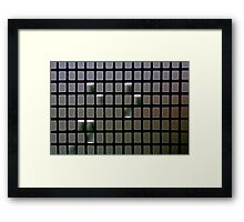 Morning Rain Drops On Fly Screen Framed Print