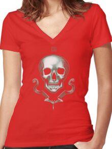 Death Skull  Women's Fitted V-Neck T-Shirt