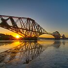 Forth Rail Bridge Sunrise by KitDowney