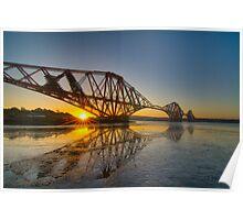 Forth Rail Bridge Sunrise Poster