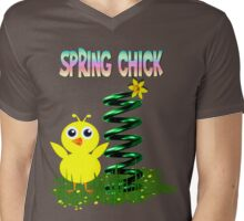 Spring Chick Mens V-Neck T-Shirt