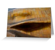 Bump on a wall abstract Greeting Card