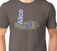 Alice in Wordleland Unisex T-Shirt