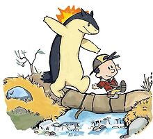 calvin and hobbes meets pokemon by fabiopapeng