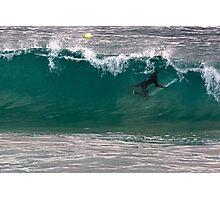 Surfer Underwater holding board Winter June 2015 Photographic Print