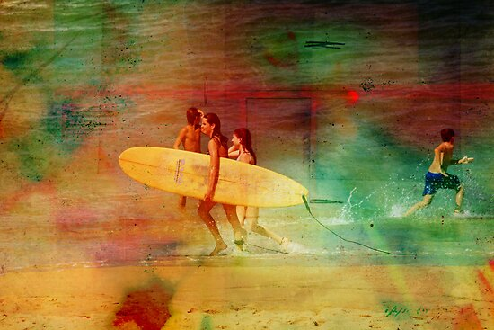 Surfer Girls by reflector