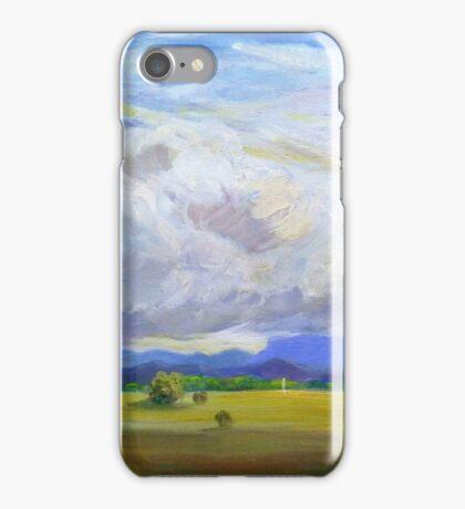 Approaching Storm over Carrara Flood Plains  iPhone Case/Skin