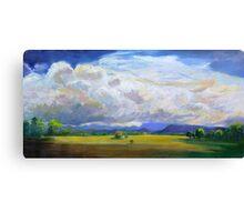 Approaching Storm over Carrara Flood Plains  Canvas Print