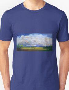 Approaching Storm over Carrara Flood Plains  T-Shirt
