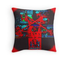 Rob Zombie Pentagram Throw Pillow