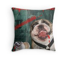 Nightmare on Bully Street Throw Pillow