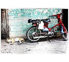 Lazy Dog and Motorcycle – Dominican Republic Poster