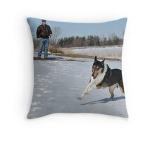 Off the Leash Throw Pillow