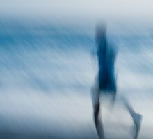 jogger in motion  by Charlie Watkins