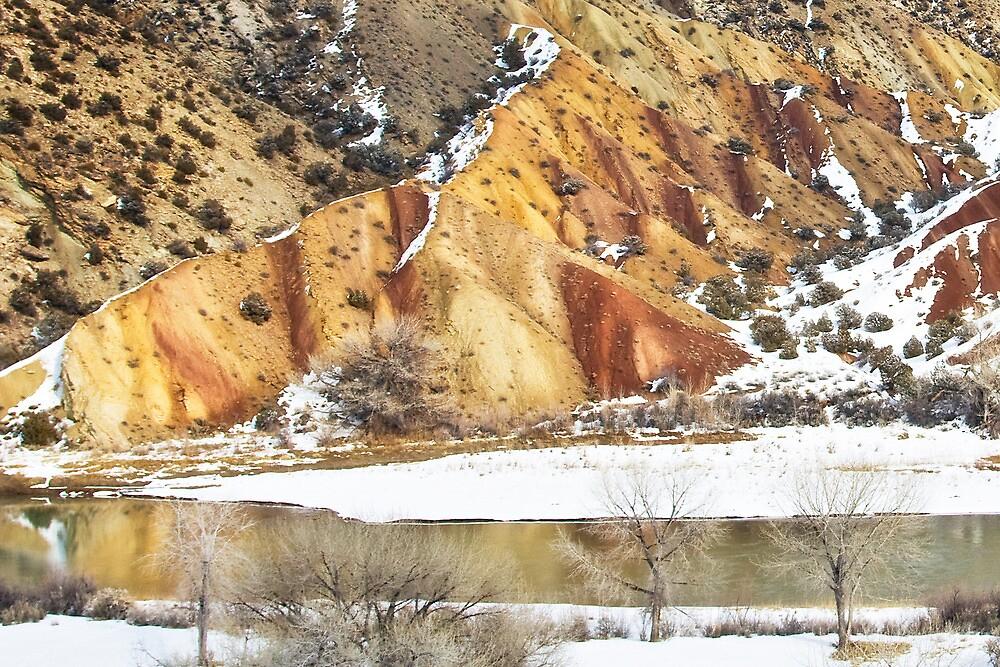 Winter Glow at Split Mountain by Kim Barton