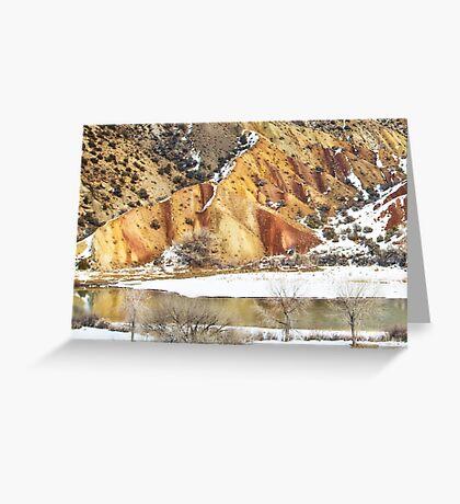 Winter Glow at Split Mountain Greeting Card