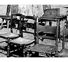 Chairs for Sale Photographic Print