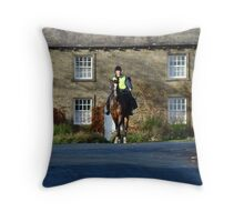 Horse Ride to the Roof  Throw Pillow