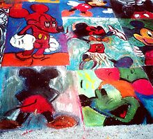 Mickey Mouse Character SideWalk Art in Downtown Disney Florida by Rick Short