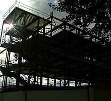 Silhouette Of Building Skeleton by Malky-C