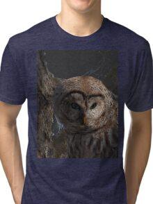 Barred Owl Hoodie Tri-blend T-Shirt