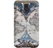 Antique old world map 1664 Restored Samsung Galaxy Case/Skin