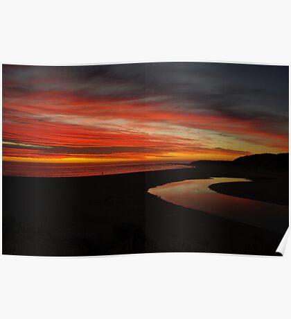 Margaret River at Sunset  Poster