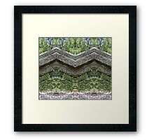 Mirrored Rocks Framed Print