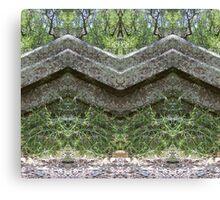 Mirrored Rocks Canvas Print