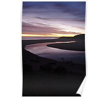 River of glass ,River mouth,Margaret River, Australia Poster