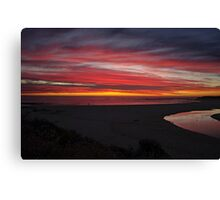 Beautiful sunset,Margaret river,W.A,Australia Canvas Print