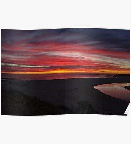 Beautiful sunset,Margaret river,W.A,Australia Poster