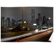 Houston never sleeps Poster