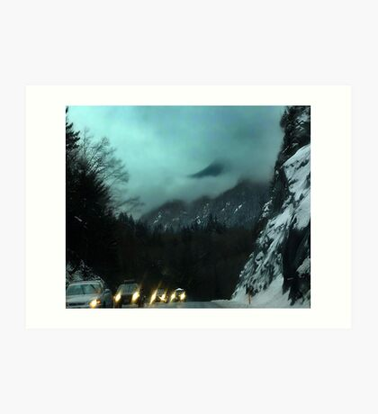 Winter Drive,Coast Mountains (1) Art Print