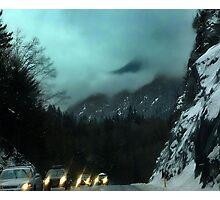 Winter Drive,Coast Mountains (1) Photographic Print