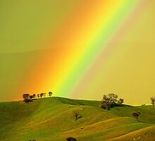 Rainbow above the Everton Hills by Kevin McGennan
