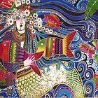 Mermaid Pillow Card by KazM