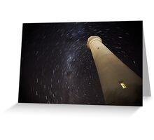 Startrails at Split Point Greeting Card