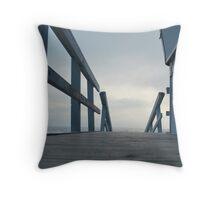 Slow Beach Throw Pillow