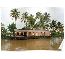 A houseboat. Poster