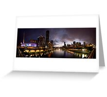 Yarra River by night Greeting Card