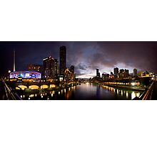 Yarra River by night Photographic Print