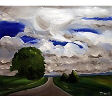 The Road. 24 x 30 Acrylic. Photographic Print
