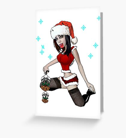 Santa's Zombie Helper Greeting Card